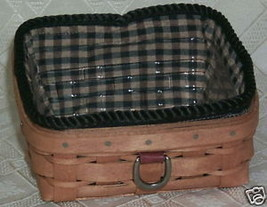 New Longaberger Business Card Basket Combo Wm Brown - $39.15