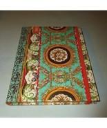 MICHEL DESIGN TEAL & GOLD ELIZABETHAN FLORAL SE... - $16.99
