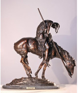 """21.5""""H End of the Trail Pure Bronze Lost Wax Sculpture Statue by James F... - $1,200.00"""