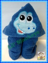 3-D Dinosaur Childrens Beach Towel/Kids Bath Towels/Toddler Hooded Towels - $35.00