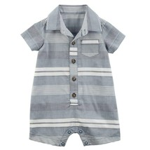 Carter's Baby Boy Striped Woven Romper One-Piece - New Born - $10.77