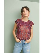 New Anthropologie Majolica Blouse by Meadow Rue SIZE 2 - $37.62