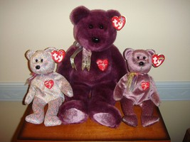 Ty Signature Beanie Baby & Buddy 2000 & Beanie Baby 2001 Bears  - $23.49