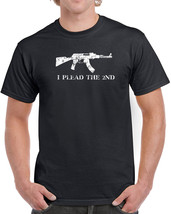 044 Plead the 2nd Mens T-shirt gun rights AK47 redneck hunter american USA new - $15.00+