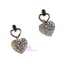 Beauty for Ashes Girls Dainty Valentine Heart Love Mini Crystal Stud Earrings - $9.97