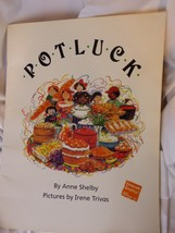 "Potluck Anne Shelby BIG BOOK 1989 Paperback 19"" Tall Class Size Teacher ... - $12.65"