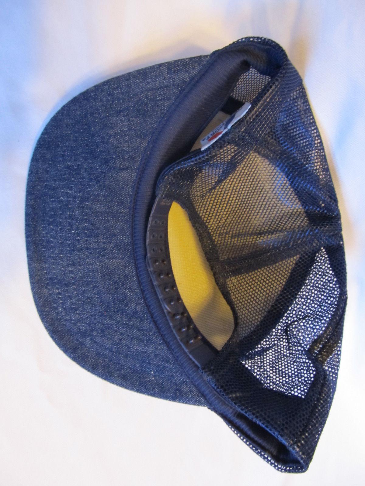 Vtg  Revluc Farm Denim Colored Mesh Snapback Trucker Hat
