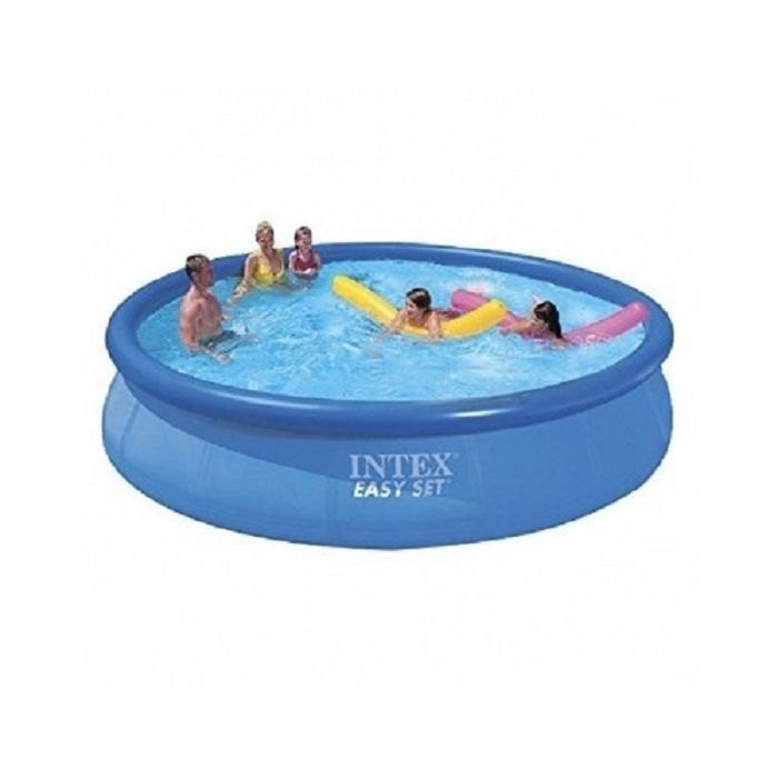 Swimming pool inflatable above ground family intex 15ft x for Inflatable above ground pools