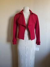 NWT WOMEN Anne  Klein  Red  Jacket size 2 $149 - $35.63