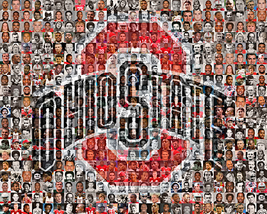 Ohio State University Mosaic Print Art Created Using Past and Present Pl... - $42.00+