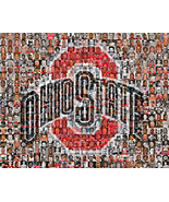 Ohio State University Mosaic Print Art Created Using Past and Present Pl... - $25.00