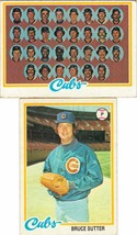 1978 Topps Chicago Cubs Team Set With Bruce Sutter - $3.79