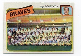 1980 Topps Atlanta Braves Team Set with Dale Murphy and Phil Niekro - $3.99