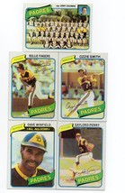 1980 Topps San Diego Padres Team Set with Dave Winfield, Ozzie Smith, Fingers - $4.79