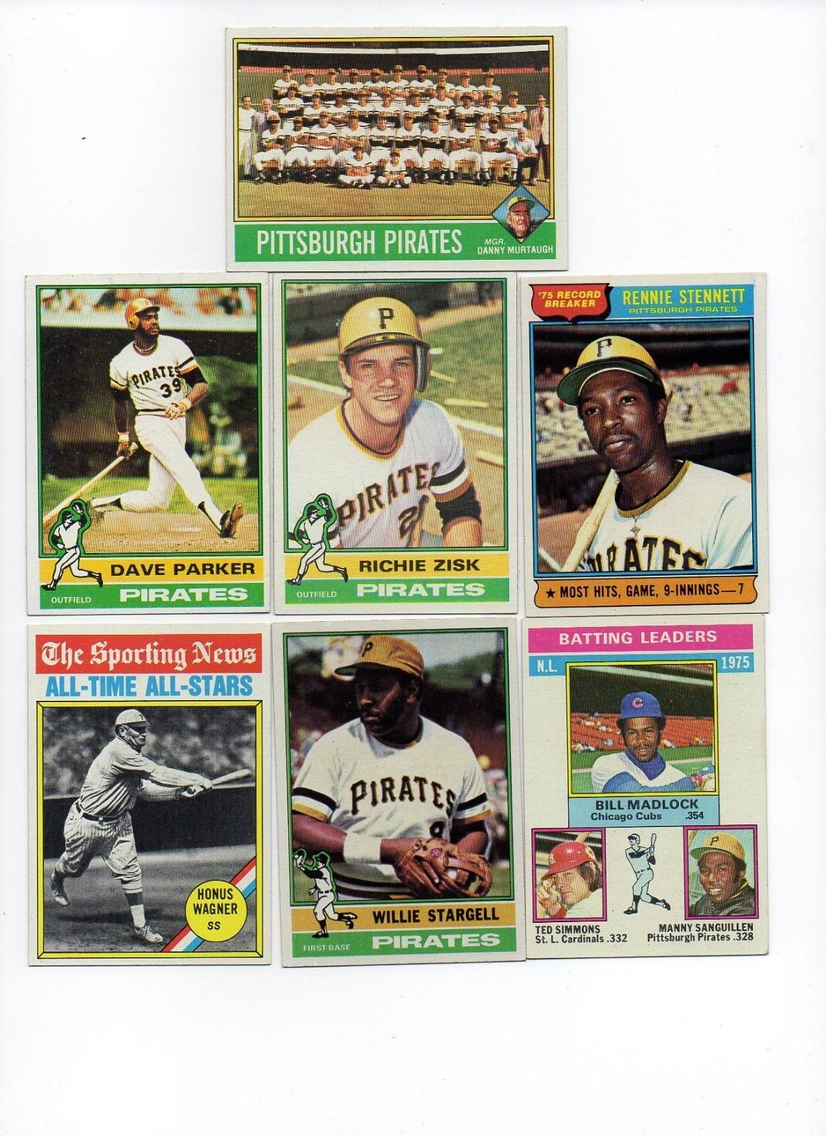 1976 Topps Pittsburgh Pirates Team Set Lot with Traded and Willie Stargell