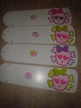 CUSTOM- GIRLS SKULL & CROSSBONES WITH BOW CEILING FAN ~PINK PURPLE LIME ... - $99.99