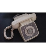 Vintage ROTARY DESK TELEPHONE Ivory Color GTE General Telephone parts or... - $29.65