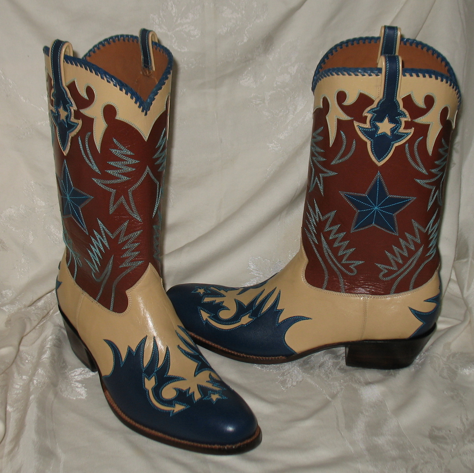 Rocketbuster Custom Made Leather Cowboy Boots 12W NIB