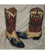 Rocketbuster Custom Made Leather Cowboy Boots 12W NIB - $3,000.00