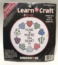 Dimensions Cross Stitch Kit #72408 Learn A Craft Home And Heart Stamped 1997 - $11.29