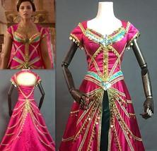 Aladdin 2019 Princess Jasmine Red Dress New Jasmine Costume Outfit Live ... - $239.00