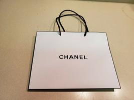 "CHANEL White Logo Shopping Gift Paper Bag Tote Home Decor 10""x 8"" x 3"" NEW - $14.80"