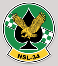 US Navy Helicopter Squadron HSL-34 Sticker - $9.89