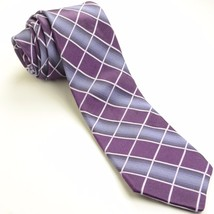 NEW IKE BEHAR 59L Plum Purple Lilac Plaid Silk Mens Necktie - €58,92 EUR