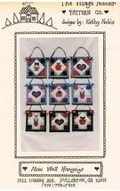 Mini Wall Hangings Country Motifs Wall Hanging Craft Pattern - $6.99