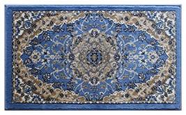 Bellagio Traditional Mat Area Rug Design 401 Blue 24 Inch x 40 Inch Mat - $34.37
