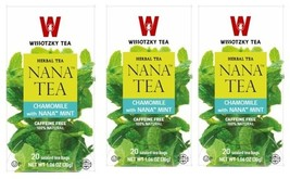 Wissotzky Tea Chamomile With Nana Mint 1.06 Oz.3/20 tea bags - $18.55