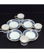 Carico Fine China Renaissance Coffee Cup and Saucer 4 Sets Lot - $53.41