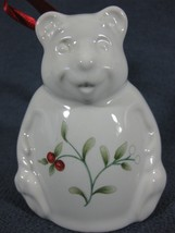 Pfaltzgraff Winterberry Figural Bear Bell Christmas Holiday 1994 Ornament - $14.95