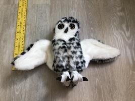 LIKE NEW Plush Folkmanis Snowy Owl Hand Puppet - $3.50