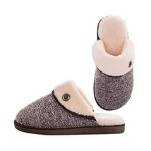 Fashion Cotton Slippers Winter Warm Indoor Slippers Couple Slippers, Men, BROWN