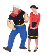 Couples Popeye and Olive Oyl Adult Costumes Husband Wife Funny Halloween - $65.90+