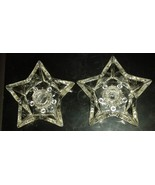 Cowboy Texas Star Shaped Candle Holders Set of 2 Christmas Star Candle H... - $19.99