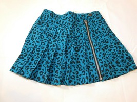 The Children's Place Girl's Youth Skirt Skort Size 5 Teal Cheetah Adjust... - $29.69