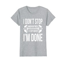 Dont Stop Fitness Gym Motivation Dumbbell T-Shirt I Gift Wowen - $19.95+