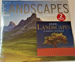 2020 Calendar Landscapes Pack 12 Month New Sealed Wall & Mini Quick Ship... - $12.19