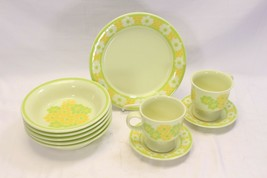 Franciscan Picnic Bowls Cups Saucers Salad Plates 10 pc - $58.79