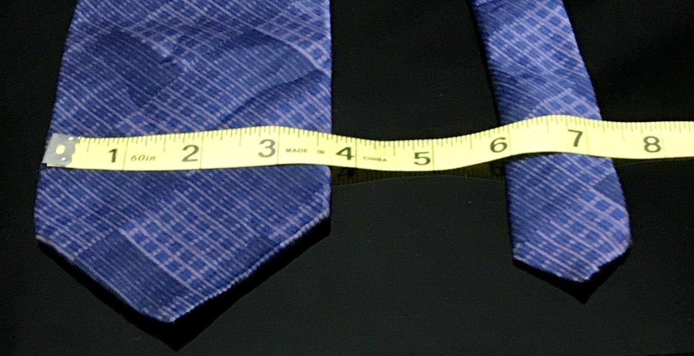 GEOFFREY BEENE Hand Made Polyester Purple Tie Diamond Necktie image 4