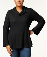 Style & Co Women's Plus Size Cowl-Neck Bell-Sleeve Pullover Blouse Tops - $20.88+