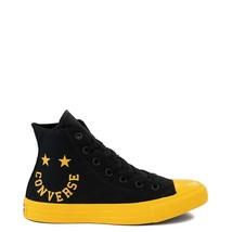 Neuf Converse Chuck Tailleur Tout Étoile Hi Smiley Basket Noir Jaune Femmes - $100.69