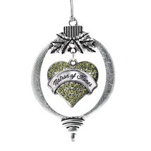 Inspired Silver Matron of Honor Green Heart Holiday Ornament - $14.69