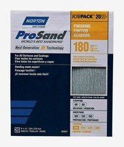 Norton ProSand SANDPAPER SHEETS 20 ct Stripping 180 Grit Fine All Surfac... - $20.99