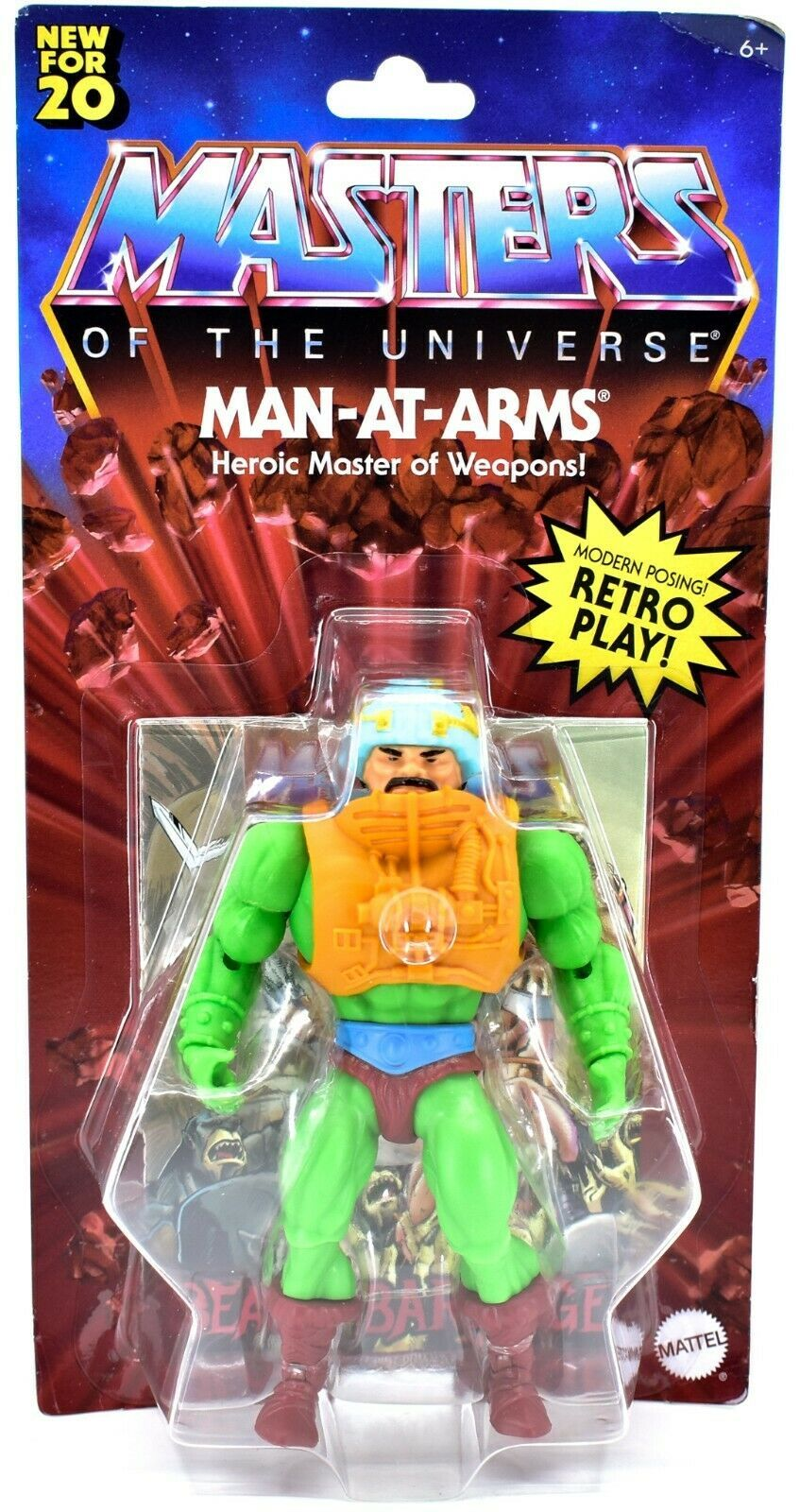 Mattel Masters of the Universe MOTU Man-at-Arms Retro Play Action Figure GNN89