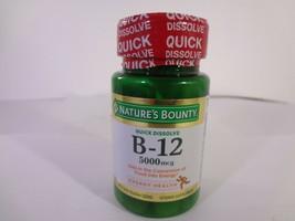 Nature's Bounty Quick Dissolve B-12 5000 mcg 40 Quick Dissolve Tablets 23-N - $10.89