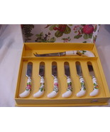 Portmeirion Pomona Cheese Knife and 6 Spreaders Set, New in Box - $25.00