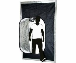 Black Hatch Grow Room Tape Friendly Borders Light Blocking Zipper Door - $65.40